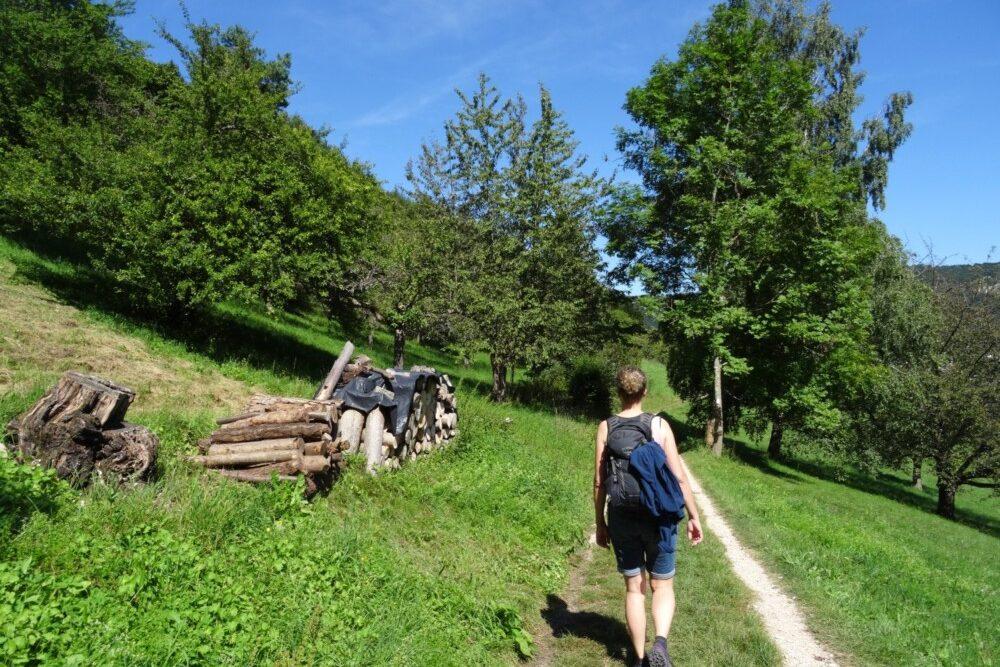 Wandelen bij Bad Urach, in de Schwäbische Alb.